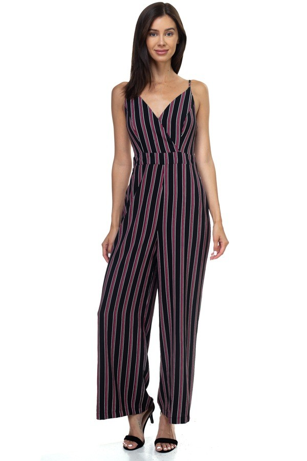 Stripe back self-tie jumpsuit-id.cc38703