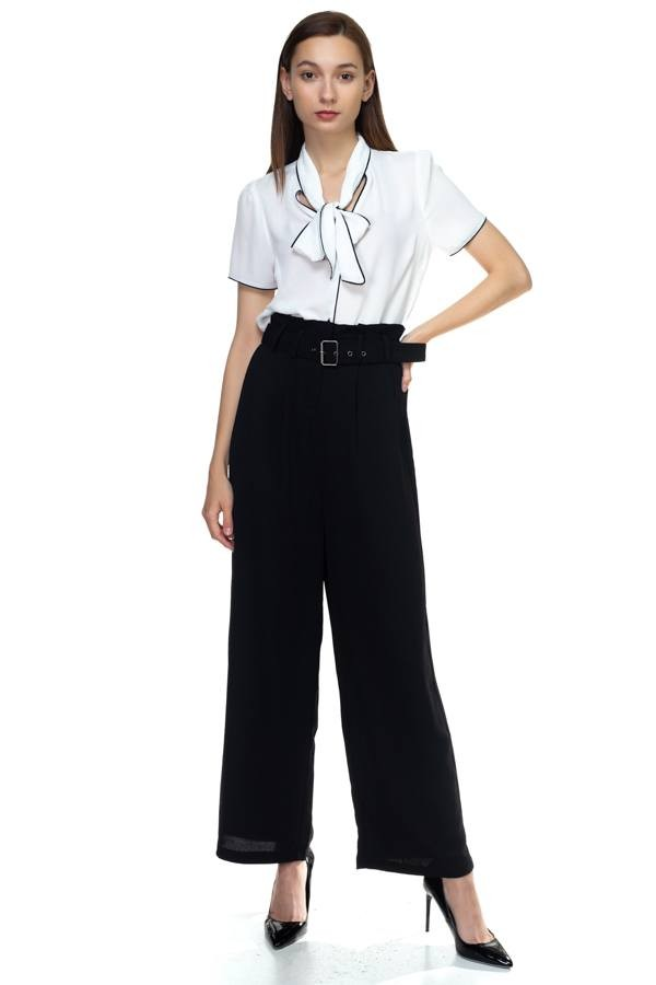 Belted wide leg pants-id.cc38709