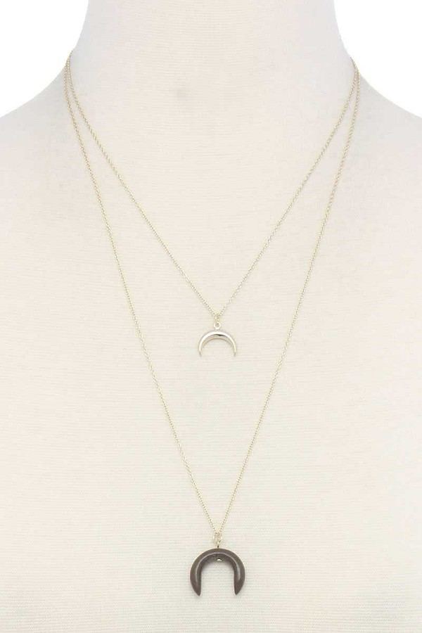 Double crescent moon necklace-id.cc39007