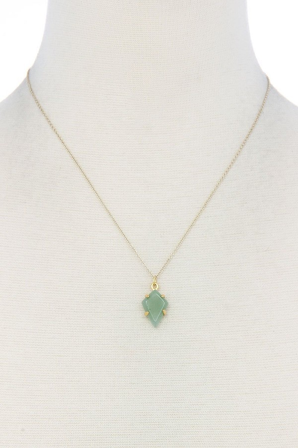 Modern fashion stone pendant necklace-id.cc39008