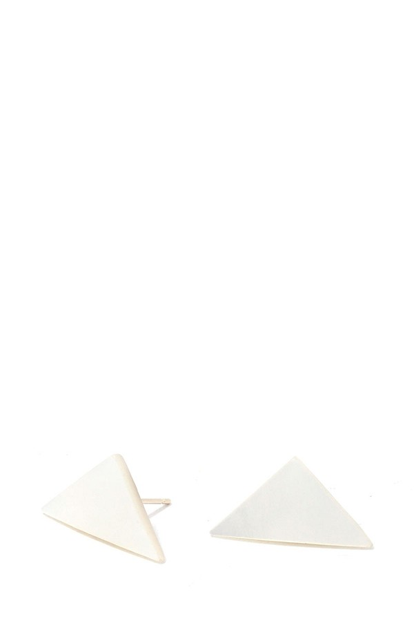 Triangular shape post earring-id.cc39020