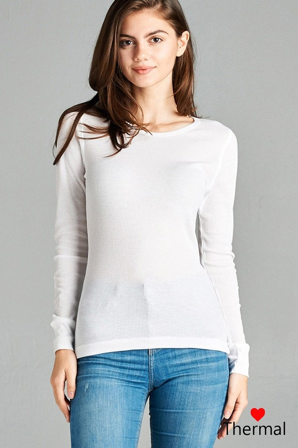 Long sleeve crew neck thermal top-id.cc39234j