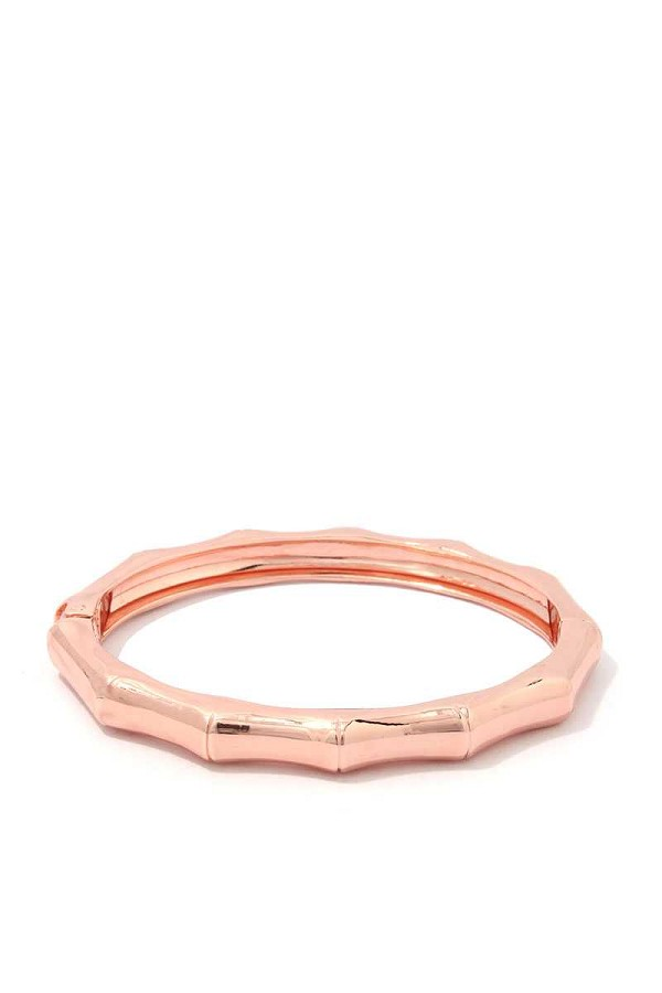 Bamboo shape metal bangle bracelet-id.cc39476