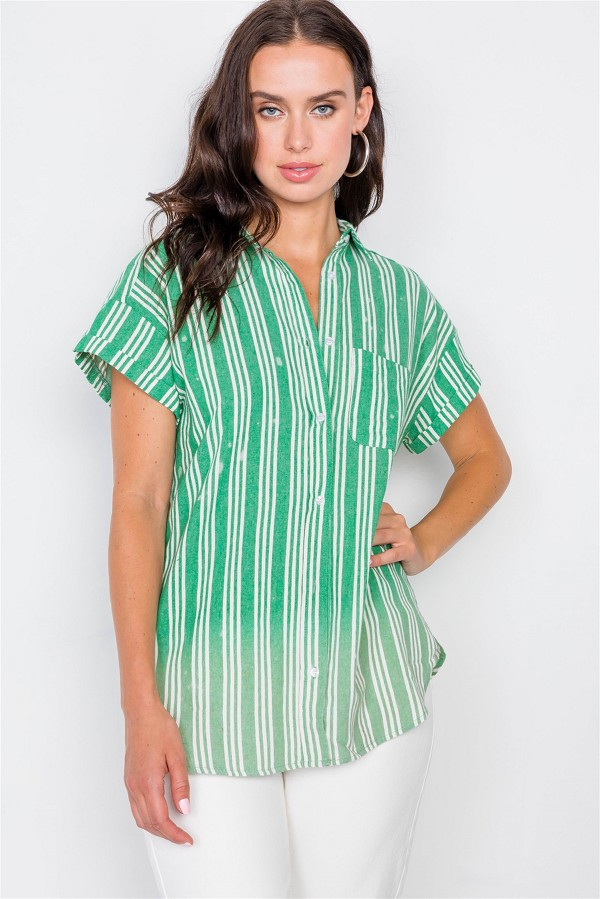 Washed pinstripe button down top-id.cc39568a