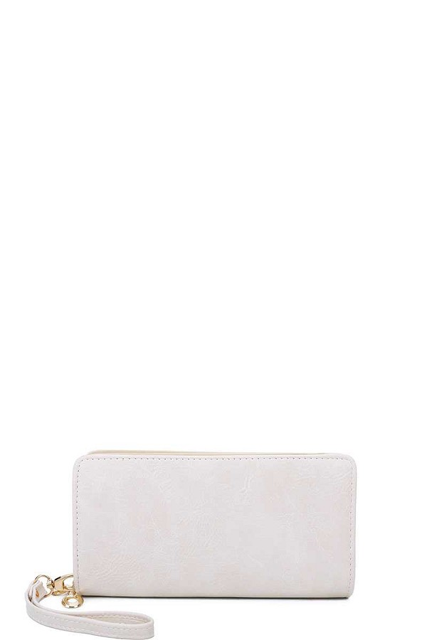 Designer fashion solid color wallet with hand strap-id.cc39902
