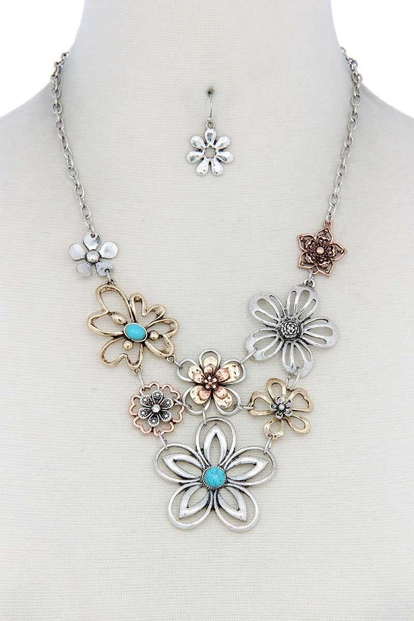 Metal flower necklace-id.cc40129