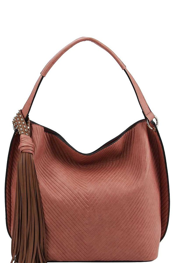 Trendy chic tassel satchel with long strap-id.cc40148