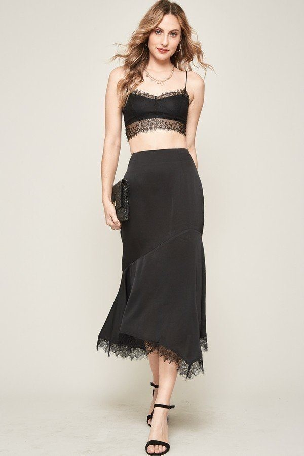 A solid woven midi skirt-id.cc40341