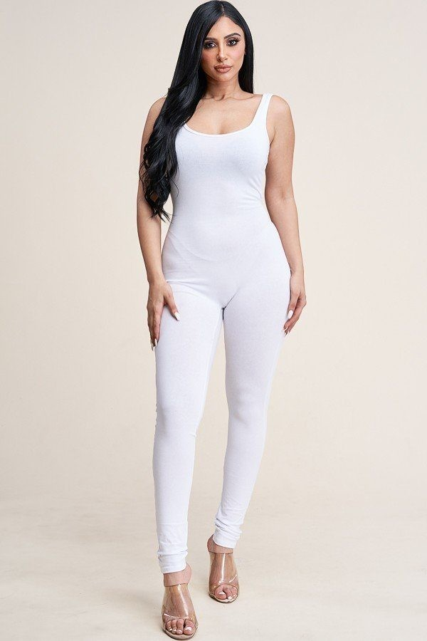 Solid cotton basic jumpsuit with u back line-id.cc40539b