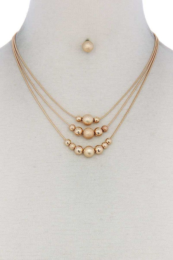 Metal bead layered necklace-id.cc50625