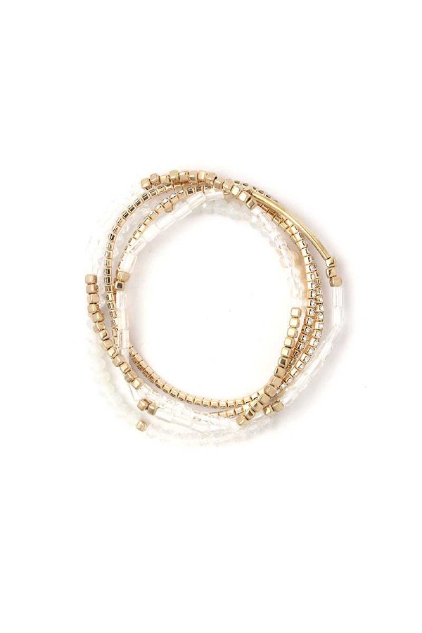 Fresh water pearl stackable bracelet set-id.cc50714