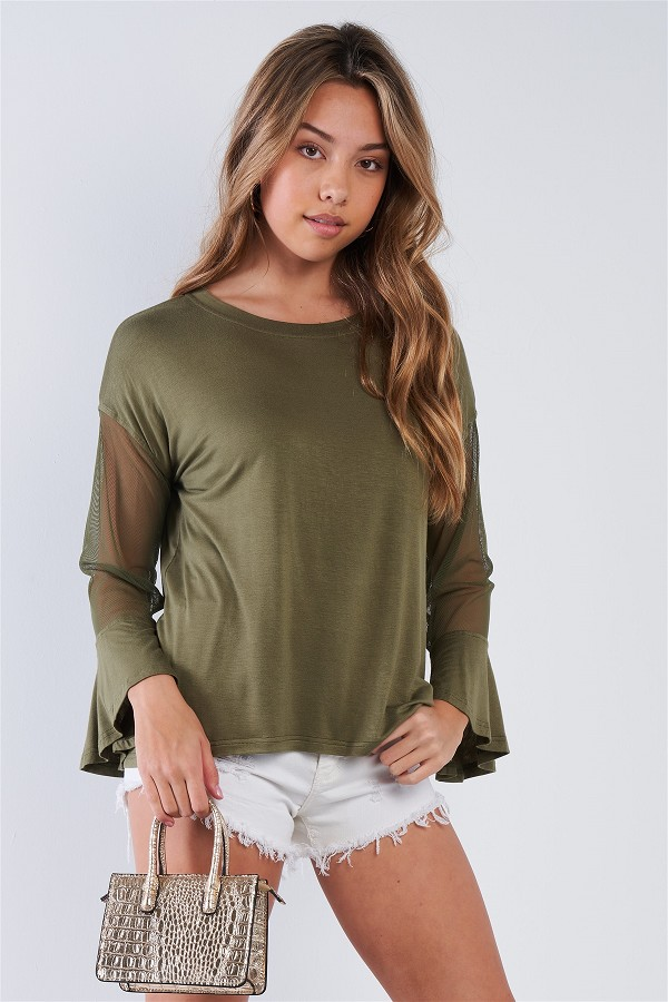 Long mesh sleeve top-id.cc50831b
