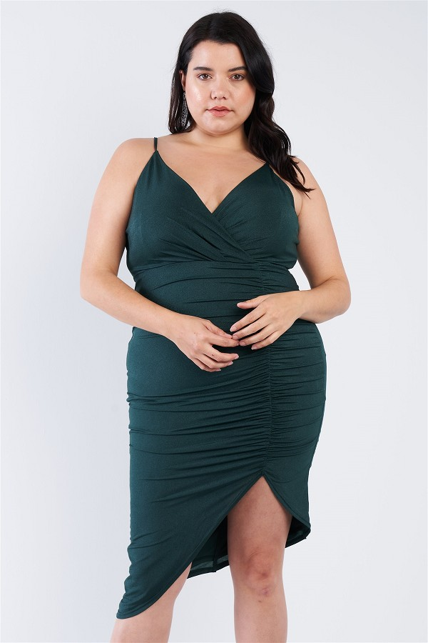 Plus size a-symmetrical scrunch dress-id.cc50897a