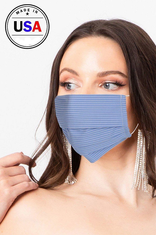 Made in usa unisex fashionable reusable washable cool breathable fabric face mask-id.cc51195