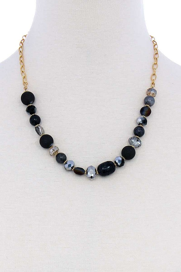 Multi bead stone chic necklace-id.cc51316