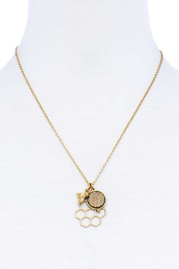 Fashion bee hive pendant necklace-id.cc51605