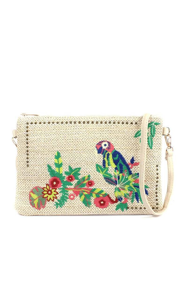 Macaw embroidered pouch-id.cc517978
