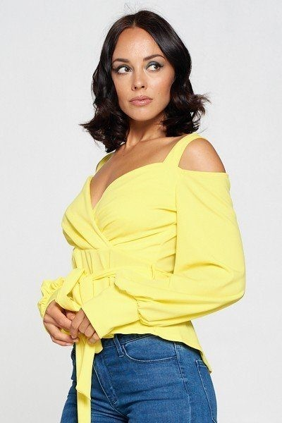 Long sleeve cold shoulder top-id.cc51967a