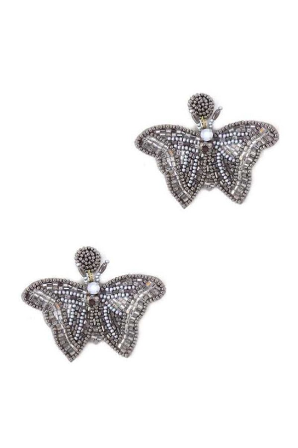 Butterfly beaded fashion earrings-id.cc52022