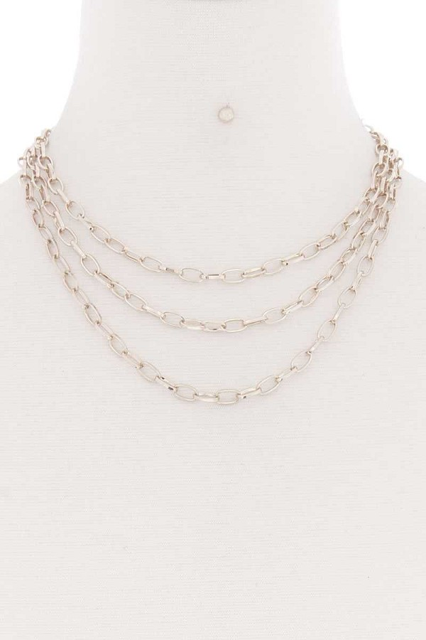 3 simple metal chain layered necklace-id.cc52176