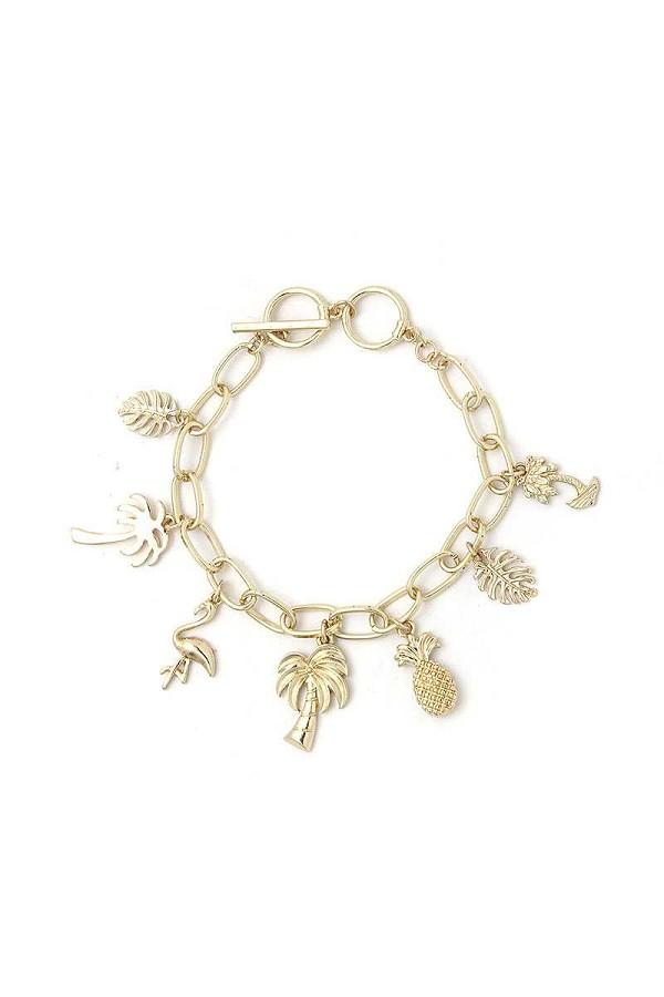 Chic fashion tropical charm drop bracelet-id.cc52186
