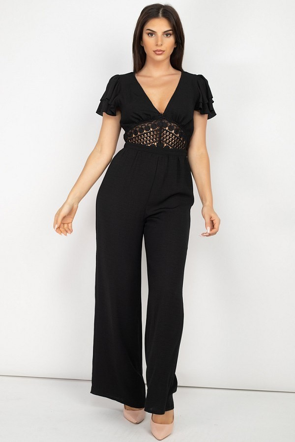 V-neck lace jumpsuit-id.cc52418