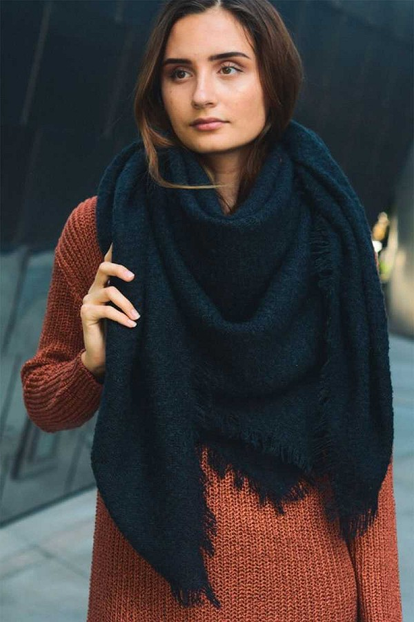 Mohair open work square blanket scarf-id.cc52756