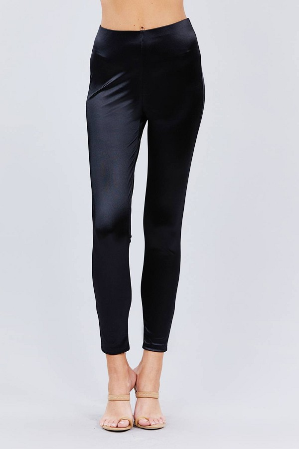 Waist band matt satin leggings-id.cc52804