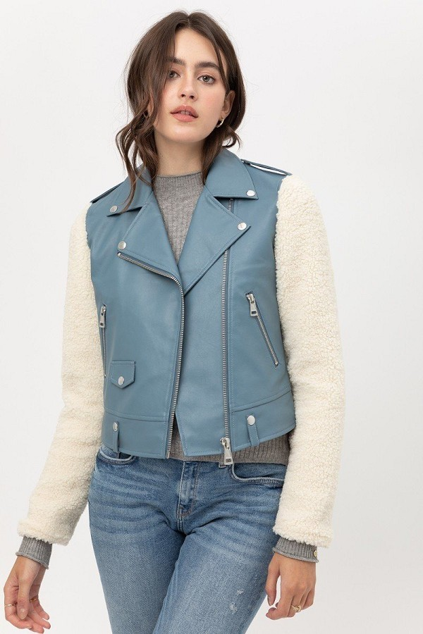 Non stretch pu jacket-id.cc52923